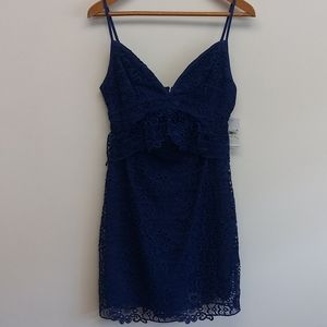 NWT Guess Blue Solstice Lace Dress